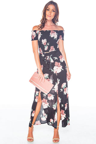 Walk This Sway Floral OTS Maxi Set