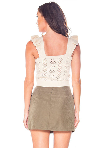 Per-Suede Me Lace Up Skirt