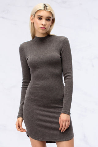 Phenomenal Feeling Grey Long Sleeve Dress