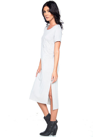 Just You Washed Maxi Dress - Cool Grey