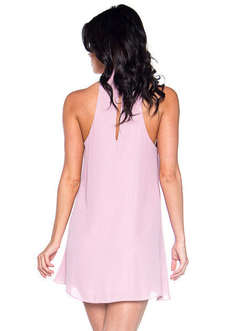 Shift & Shout Cutout Shift Dress - Petal Pink