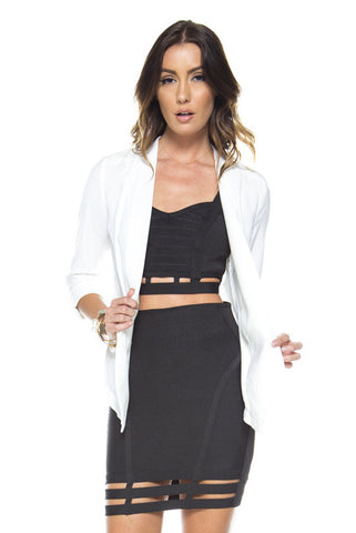 Black Bandage Skirt & Crop Top Set