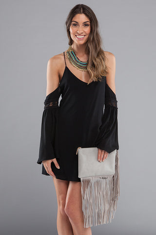 Fringe Benefits Clutch - Gray
