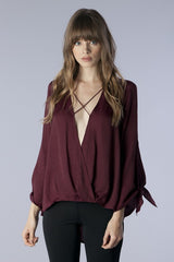 Catch The Breeze Burgundy Top