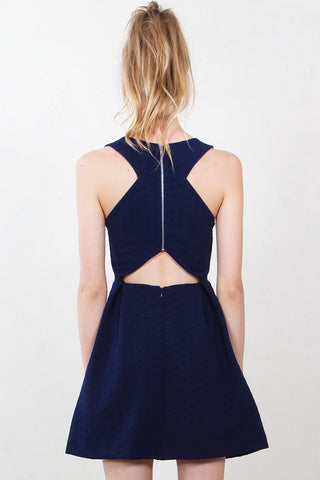 Prep Talk Navy Dress