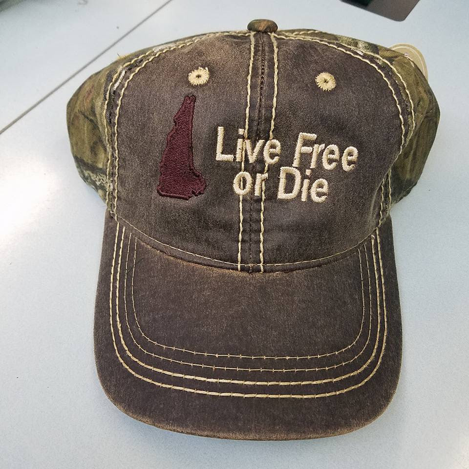 "Camouflage  ""Live Free or Die"" Hats"