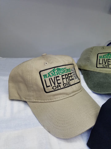 Live Free or Die License Plate Hats