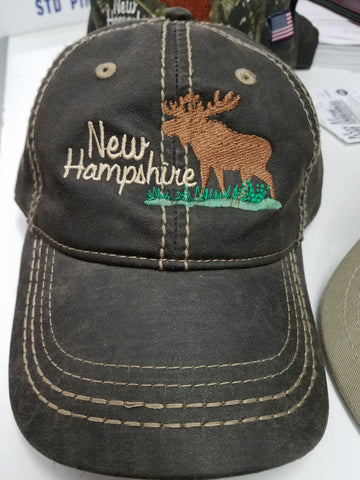 New Hampshire Hats with Moose