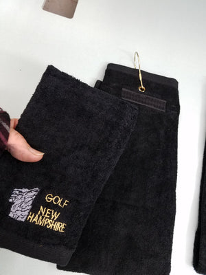 New Hampshire Golf Towel / Detachable mini ball towel