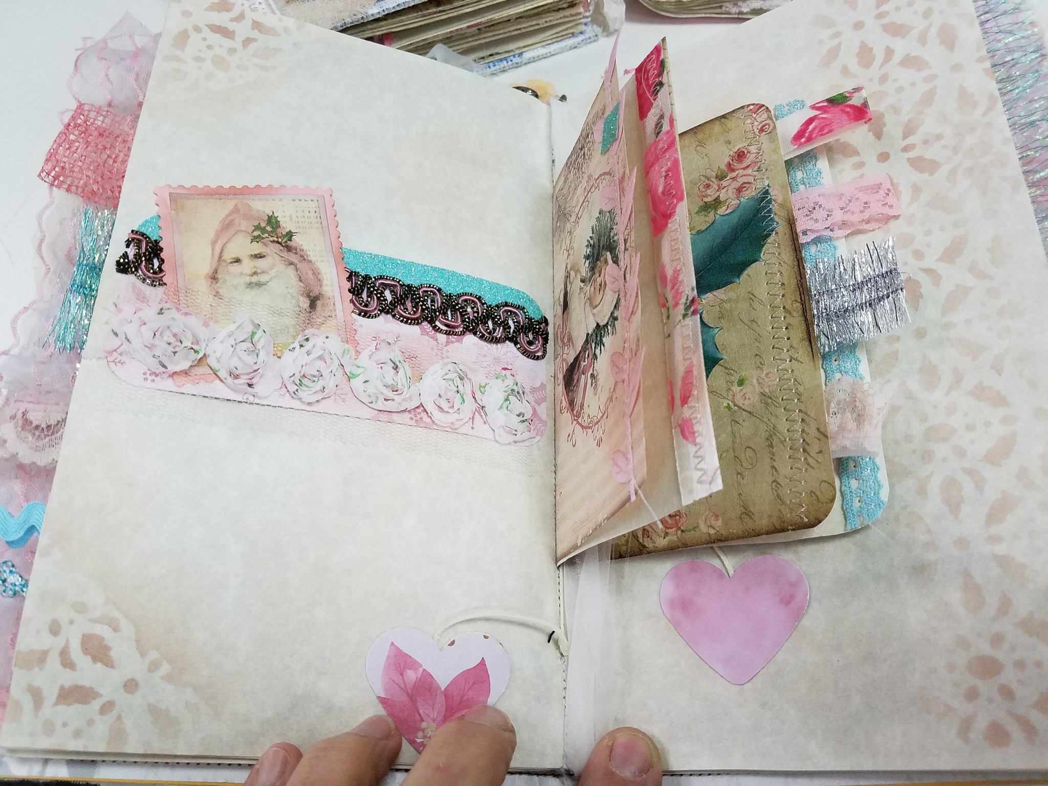 Christmas in pink softcover journal #1