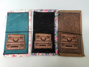 Travelers notebook Cover -Vintage suitcases