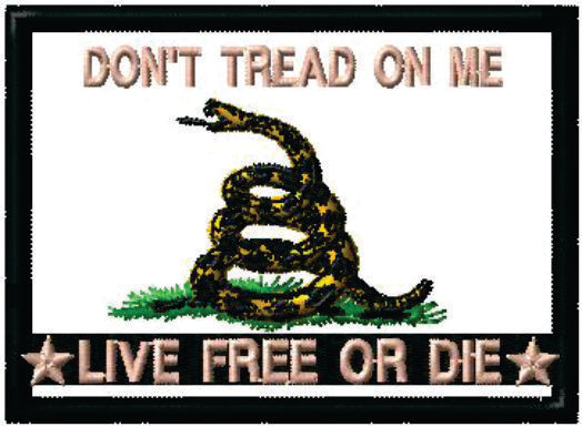 Don't Tread on Me - Live Free or Die patches
