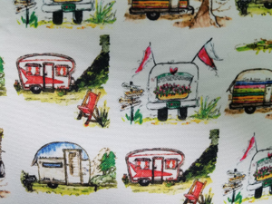 "16"" Vintage Campers Pillow"