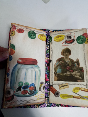 Travelers notebook size sewing kit -FLORAL