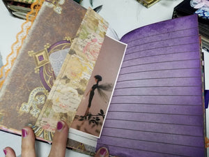 Shadowbox Junk Journal - Fairy in Purple