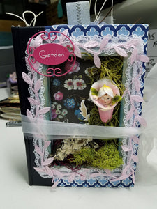 Shadowbox Junk Journal - Fairy in Pink & Blue