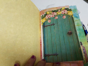 Shadowbox Junk Journal - Fairy in Yellow
