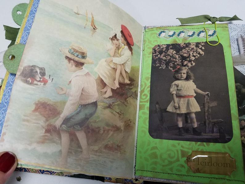 Vintage Children -Shadowbox Junk Journal