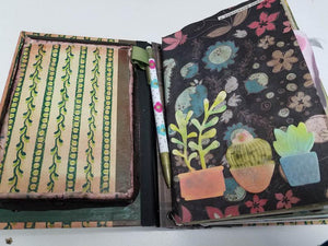 Shadowbox Junk Journal - Succulents