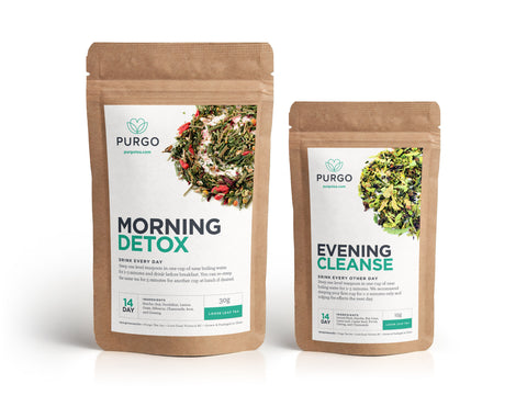 purgo teatox 14 day detox tea cleanse canada loose leaf green tea for weightloss