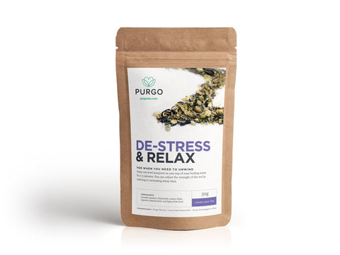purgo tea destress relax anxiety loose leaf green tea