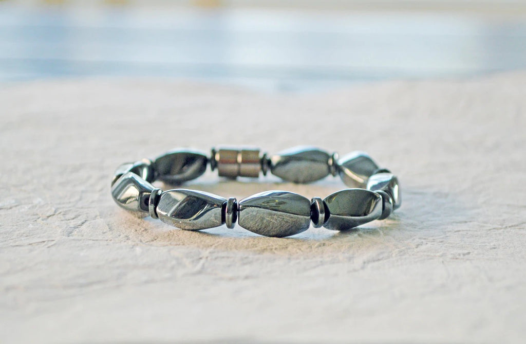 Black High Power Magnetic Hematite Bracelet