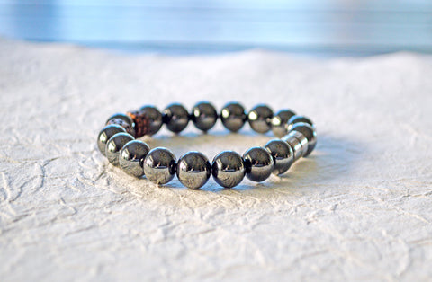 Black and Copper Magnetic Therapy Bracelet