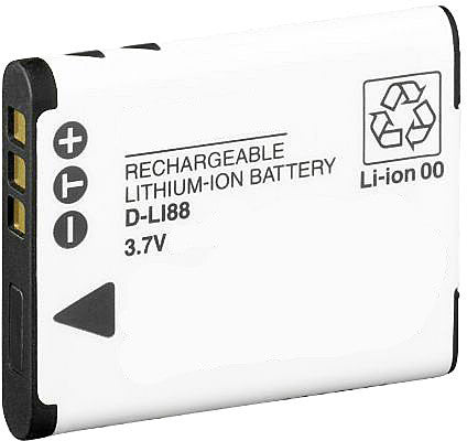 Compatible Pentax D-LI88 Li-Ion Rechargeable Battery