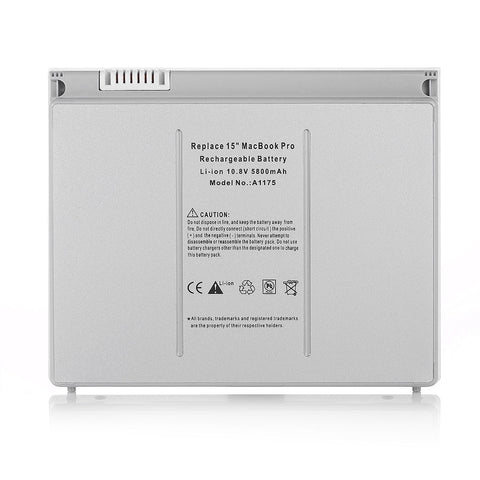 Compatible Apple A1150 A1175 MA348*/A, MA348G/A, MA348J/A Li-Ion Replacement Battery for MacBook Pro 15 inch Notebooks