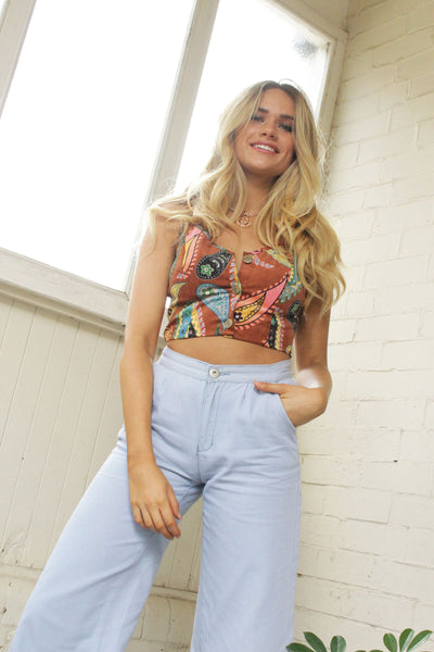 Down To Earth Crop Top