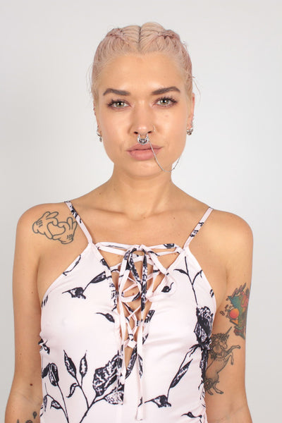 Sugar Rush Septum Nose-To-Ear Chain - Silver
