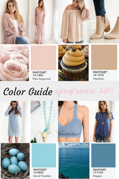 Spring/ Summer Color Guide 2017!
