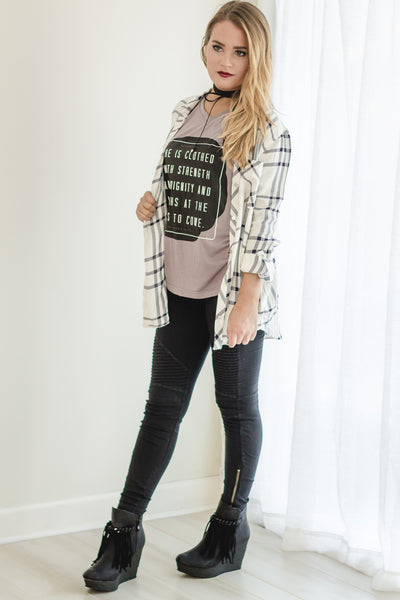 Plaid & Graphic Tee Outfit!