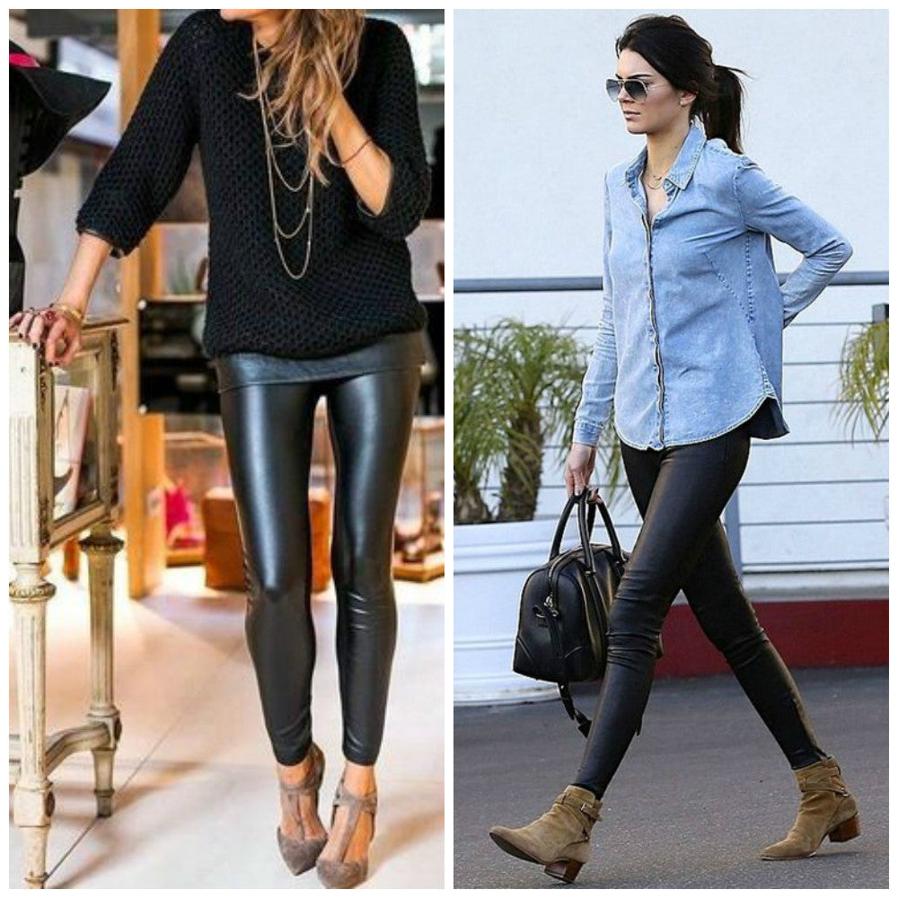 Kendall Jenner Leather Leggings Outfit Inspo