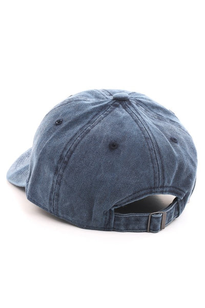 Vintage Wash Baseball Hat | Navy-[product_description]-[product_tag]-Stella B. Clothing