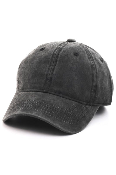 Vintage Wash Baseball Hat | Black-[product_description]-[product_tag]-Stella B. Clothing