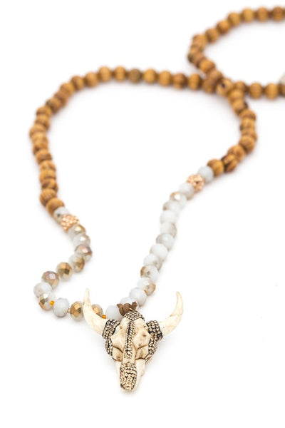 Bull Head Beaded Necklace-[product_description]-[product_tag]-Stella B. Clothing