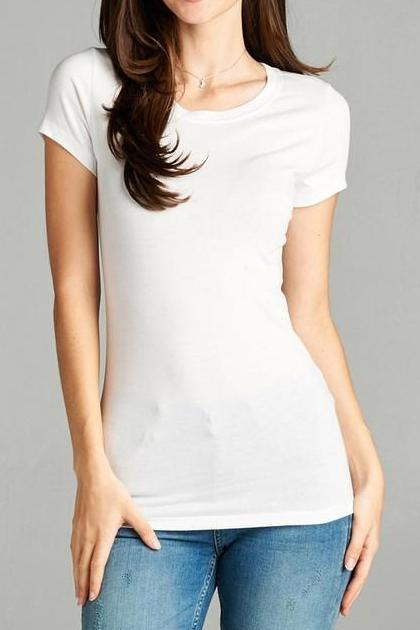 Basic Short Sleeve Crew Neck - 2 colors-[product_description]-[product_tag]-Stella B. Clothing