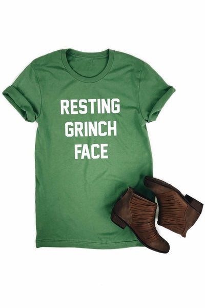 Resting Grinch Face Graphic Tee-[product_description]-[product_tag]-Stella B. Clothing