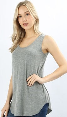 Dolphin Tunic Tank | Grey-[product_description]-[product_tag]-Stella B. Clothing