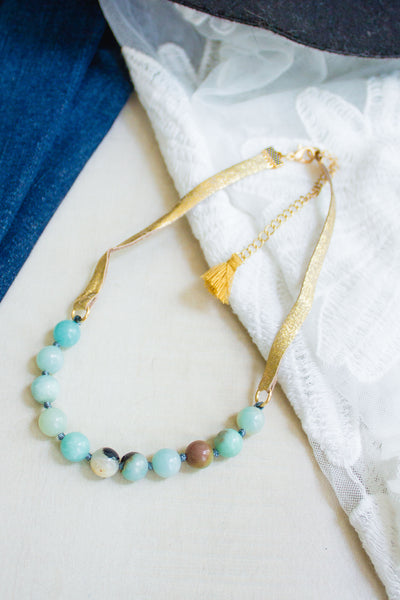 Amazonite Choker- 2 colors-[product_description]-[product_tag]-Stella B. Clothing
