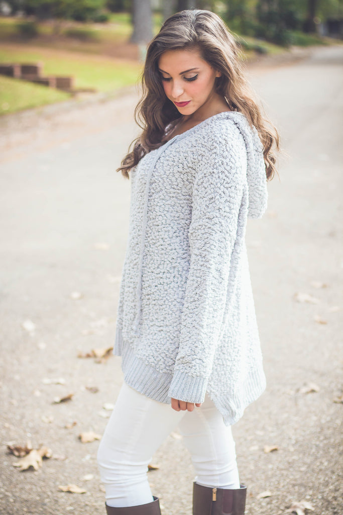 Kicking Horse Popcorn Pullover | Grey-[product_description]-[product_tag]-Stella B. Clothing