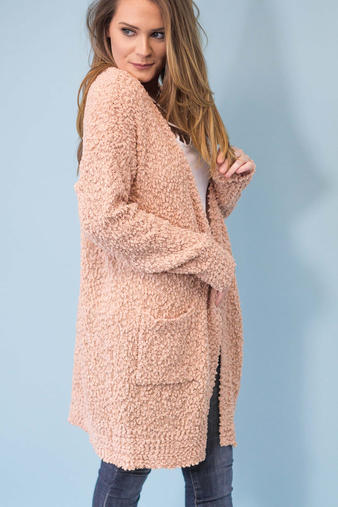 On and Poppin' Sweater Cardigan- Blush-[product_description]-[product_tag]-Stella B. Clothing