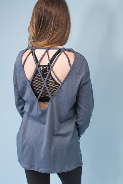 Bellevue Strappy Back Top - Blue-[product_description]-[product_tag]-Stella B. Clothing