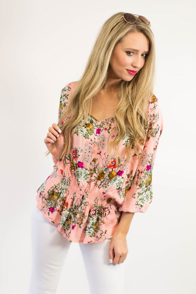 Marley Floral Button Top | Pink-[product_description]-[product_tag]-Stella B. Clothing