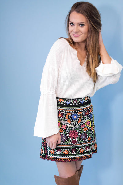 Dubai Embroidered Skirt-[product_description]-[product_tag]-Stella B. Clothing