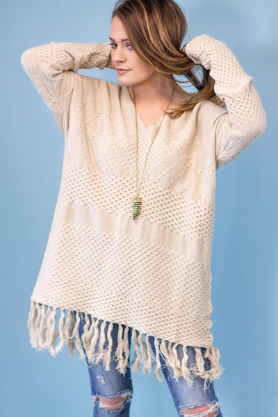 Bloomfield Fringe Sweater Tunic-[product_description]-[product_tag]-Stella B. Clothing