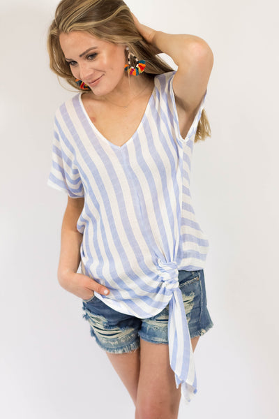 Charleston Striped Tie Top-[product_description]-[product_tag]-Stella B. Clothing
