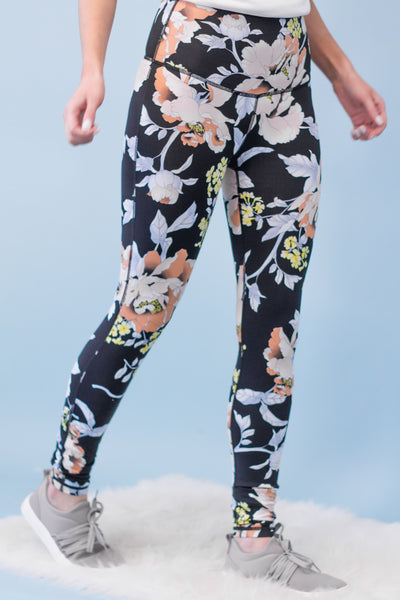 Floral Active Leggings-[product_description]-[product_tag]-Stella B. Clothing