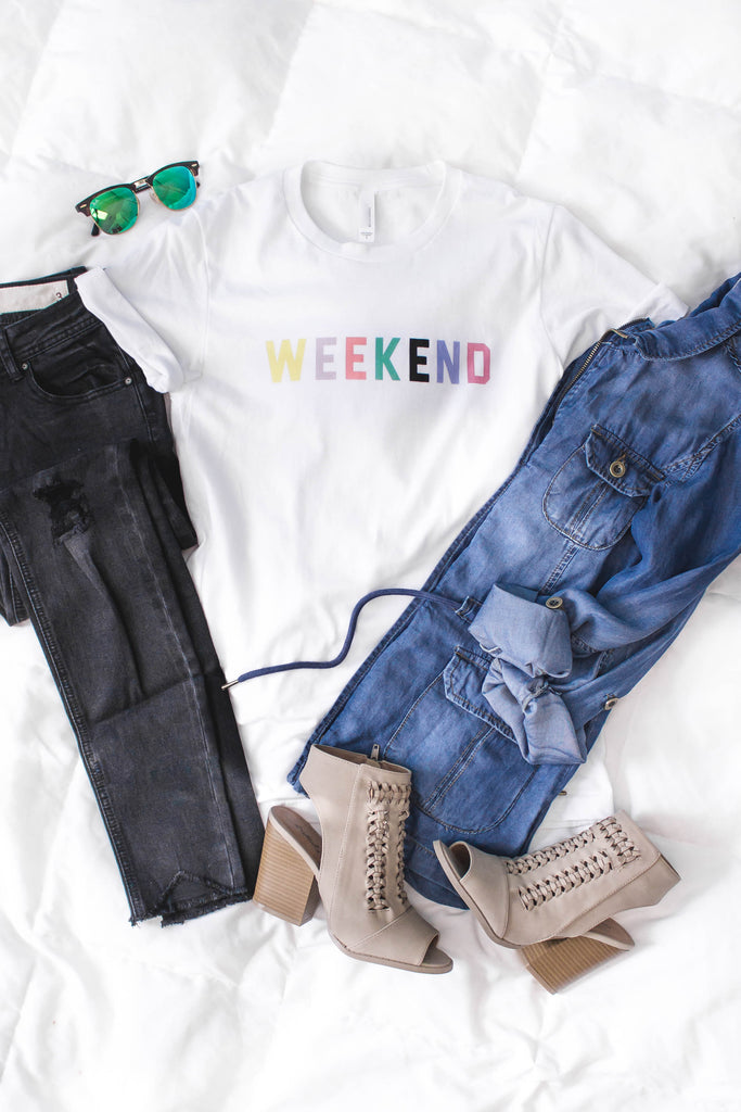 Weekend Rainbow Tee-[product_description]-[product_tag]-Stella B. Clothing
